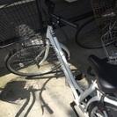 26インチのホワイト自転車(^^)