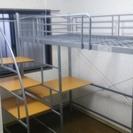 階段・デスク付き中古ロフトベッド譲ります