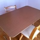 ニトリ ダイニングテーブル 椅子2脚付き
