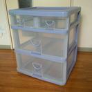3段上2列プラスチック収納ケース