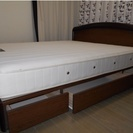 《Tokyo  bed》クイーンベッド (引き出し収納付き)