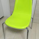 椅子 黄緑 3脚セット