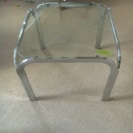 スクエア ガラスーブル ナイトテーブル 強化ガラス