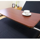 ベット テーブル 伸縮 伸張式 昇降 キャスター付き シンプルベッ...