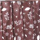 値下げ 1100円→900円ブラウン色のカーテン+アジャスターあり...