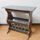 アンティーク風、古材のサイドテーブル・マガジンラック