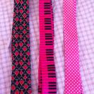 値下げ 可愛い細身ネクタイ3本セット