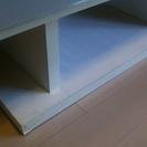 ★中古★ニトリのテレビ台 木製 白 ガラス