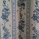 花柄のカーテン2枚セット