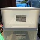 白のカラーボックス  2個セット