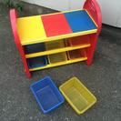 【海外っぽい】レゴ天板の棚【おもちゃ収納】
