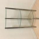 コーナー ガラス棚 3段