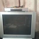 29インチブラウン管テレビ + DVDプレイヤー