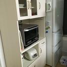 【値下げ】ビーカンパニー購入 食器棚 ホワイトウォッシュ