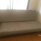 中古 IKEA 3人掛けソファベッド 掛け布団 枕 カバー類 セッ...
