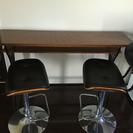 カウンター式テーブル&椅子セット