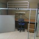 学習机付システムベッド(スタンド、椅子、チェスト付)