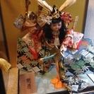 75)値下げ!日本人形カブト桃太郎サムライ