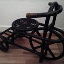 籐ラタンの自転車型 花台 飾り台