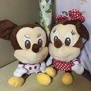 ミッキー&ミニー ぬいぐるみ