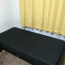 シングルサイズ ベッド ブラック 脚付