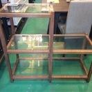 【家具】 棚 階段式 ガラス 収納 飾り棚
