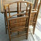 木製ダイニングテーブル・イス(折り畳み)