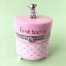 乳歯ケース 新品 ピンク 陶磁器製