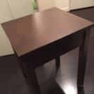 無印 木製サイドスタンド テーブル