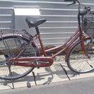 26インチ 自転車 日常の脚に 退色した赤