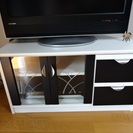 白黒 テレビボード【w×d×h = 86cm×41cm×46cm】