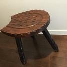 ★ゼロ円★おしゃれ椅子 木製 座面37cm×28cm 高さ39.5...