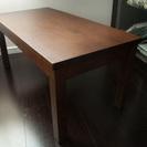 無印 ダークブラウン木製ローテーブル