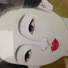 【 絵画 油彩 】青木 増之  『 舞妓 』