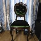 【終了】 イタリー製のグリーンベルベッドの椅子 美品