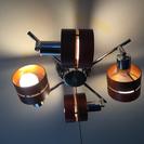 木製シーリングライト LED 電球付き・スポットライト 4灯