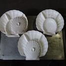 [無料10個あり]訳ありの蓋付きオードブル皿(シェル型)万古焼