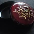 菓子鉢 蓋付き 玉虫塗 未使用