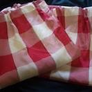 赤系カーテン 2枚