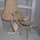 テーブルランプとキャンドルスタンドのセット☆ホワイト系 美品