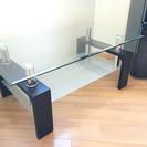 ガラス製ローテーブル