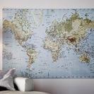 イケア壁掛けアート 世界地図 200✖︎140✖︎2