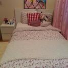 IKEA イケア セミダブル 収納付きベッド & ホワイトチェスト...