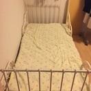 IKEA 伸張ベッド 白 値下げしました!