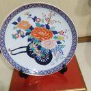 瀬戸物絵皿、直径 34cm