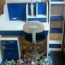 子ども用学習机セット 青色