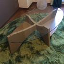 ガラステーブル オーバル
