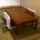 家具調こたつセット(机、座椅子✕2)