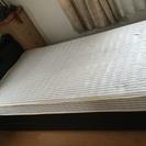 ベッド(台+フランスベッドのマット)  幅96x長さ210cmx高...