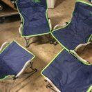 アウトドア折り畳み椅子4脚セット